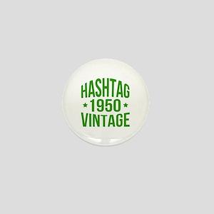 1950 Hashtag Vintage Mini Button