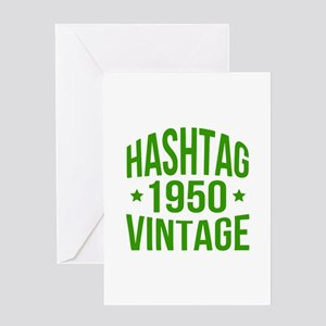 Funny vintage 1950 greeting cards cafepress 1950 hashtag vintage greeting card m4hsunfo
