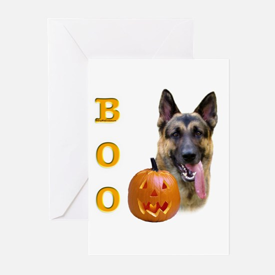 GSD Boo Greeting Cards (Pk of 10)