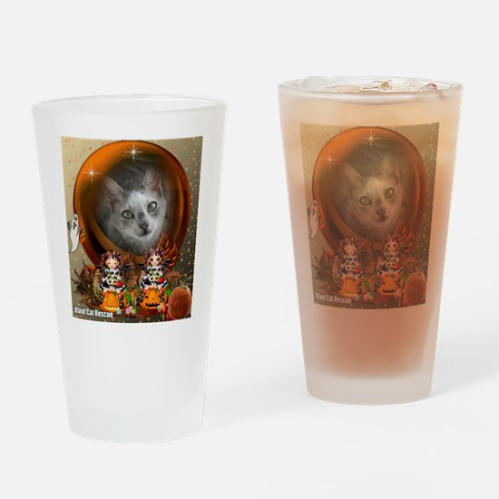 Unique Blind cat Drinking Glass