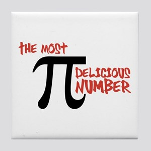 Pi - The Most Delicious Number Shirt Tile Coaster
