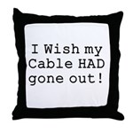Wish My Cable Throw Pillow
