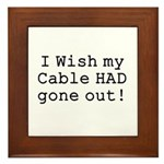 Wish My Cable Framed Tile
