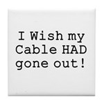 Wish My Cable Tile Coaster