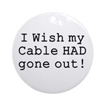 Wish My Cable Ornament (Round)