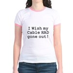 Wish My Cable Jr. Ringer T-Shirt