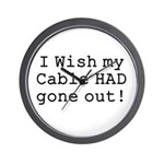 Wish My Cable Wall Clock
