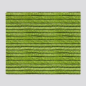 Bright Chartreuse Apple Green Sweate Throw Blanket