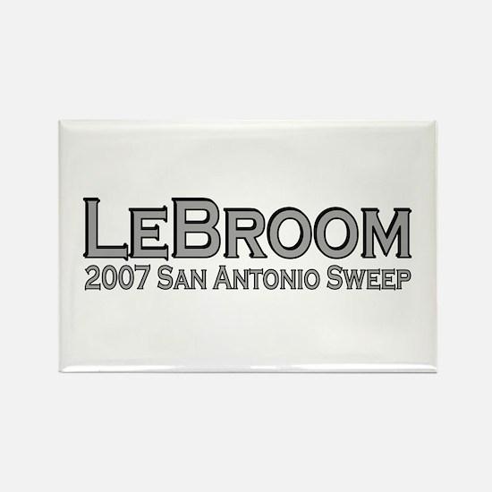 LeBroom San Antonio Sweep Rectangle Magnet