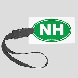 New Hampshire NH Euro Oval Large Luggage Tag