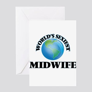 World's Sexiest Midwife Greeting Cards