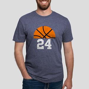 Basketball Player Number Mens Tri-blend T-Shirt