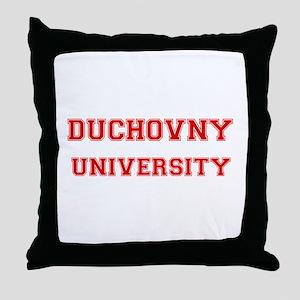 DUCHOVNY UNIVERSITY Throw Pillow