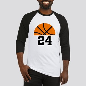 Basketball Player Number Baseball Tee