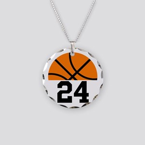 Basketball Player Number Necklace Circle Charm