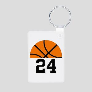 Basketball Player Number Aluminum Photo Keychain
