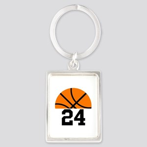 Basketball Player Number Portrait Keychain