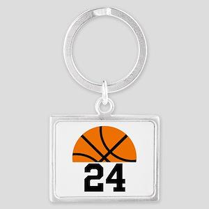 Basketball Player Number Landscape Keychain