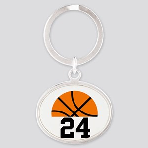 Basketball Player Number Oval Keychain