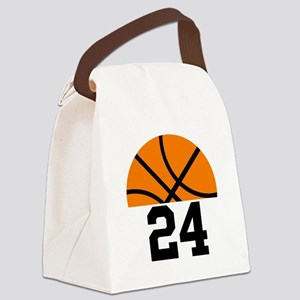 Basketball Player Number Canvas Lunch Bag