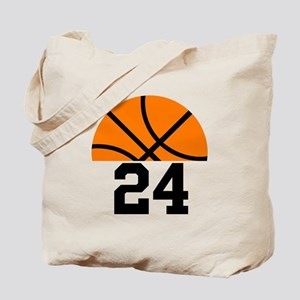 Basketball Player Number Tote Bag