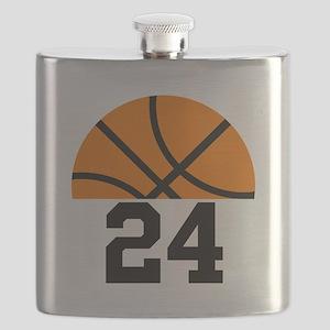 Basketball Player Number Flask