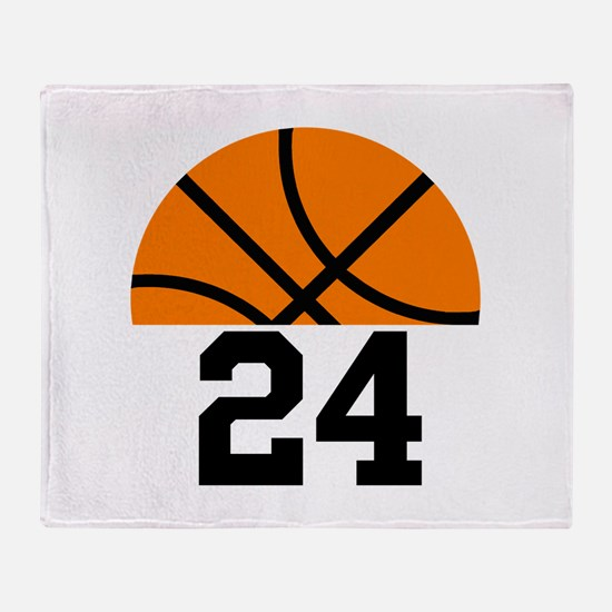 Basketball Player Number Throw Blanket