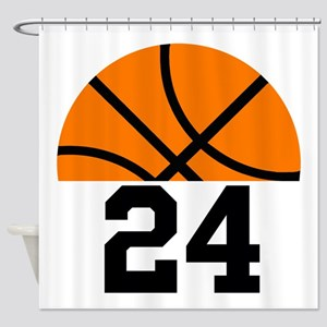 Basketball Player Number Shower Curtain