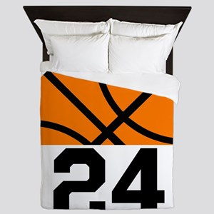 Basketball Player Number Queen Duvet