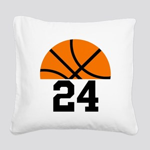 Basketball Player Number Square Canvas Pillow