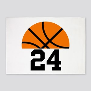 Basketball Player Number 5'x7'Area Rug