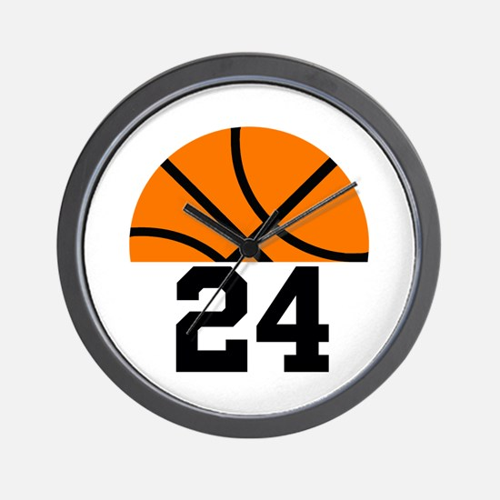 Basketball Player Number Wall Clock