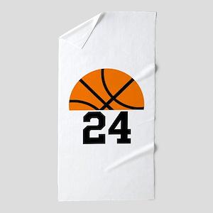 Basketball Player Number Beach Towel