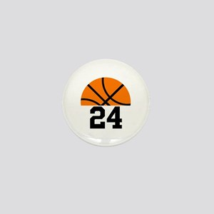 Basketball Player Number Mini Button