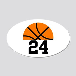Basketball Player Number 20x12 Oval Wall Decal