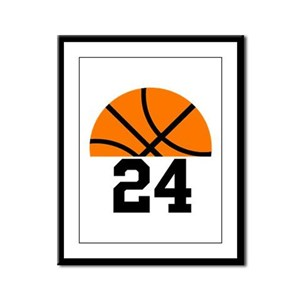 Basketball Player Number Framed Panel Print