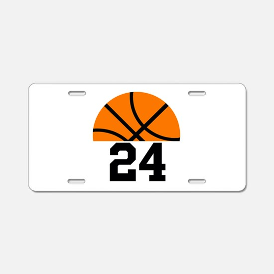 Basketball Player Number Aluminum License Plate