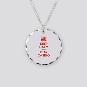 Keep Calm And Play Casino Necklace Circle Charm