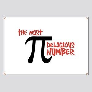 Pi - The Most Delicious Number Shirt Banner