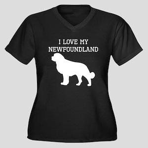 I Love My Newfoundland Plus Size T-Shirt