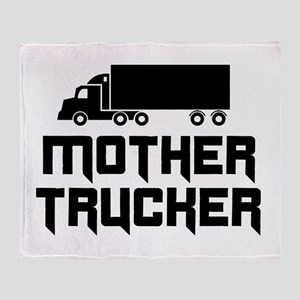 Mother trucker Throw Blanket