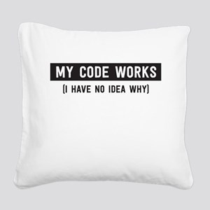My code works no idea why Square Canvas Pillow