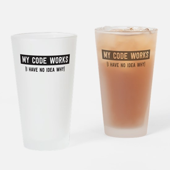 My code works no idea why Drinking Glass