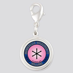 Greendale Flag Seal Silver Round Charm