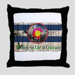 High On Life in Colorado Throw Pillow