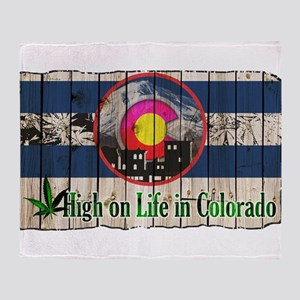 High On Life in Colorado Throw Blanket