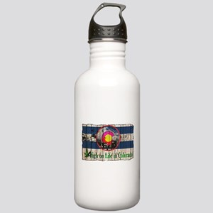 High On Life in Colorado Water Bottle