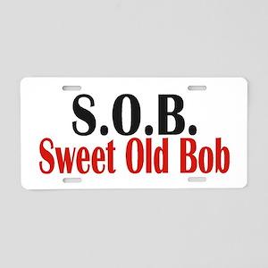 Sweet Old Bob - SOB Aluminum License Plate