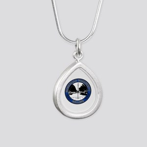 Greendale Seal Silver Teardrop Necklace