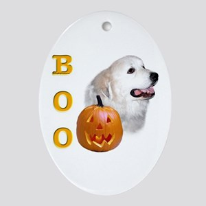 Pyrenees Boo Oval Ornament